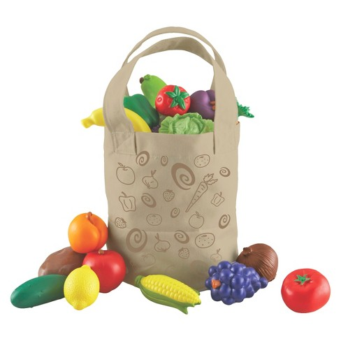 Learning Resources New Sprouts Fresh-Picked Fruit & Veggie Tote - image 1 of 5