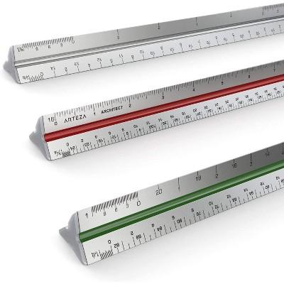 """Arteza Architect Ruler, Triangular, Scale, 12"""" (ARTZ-8045)"""