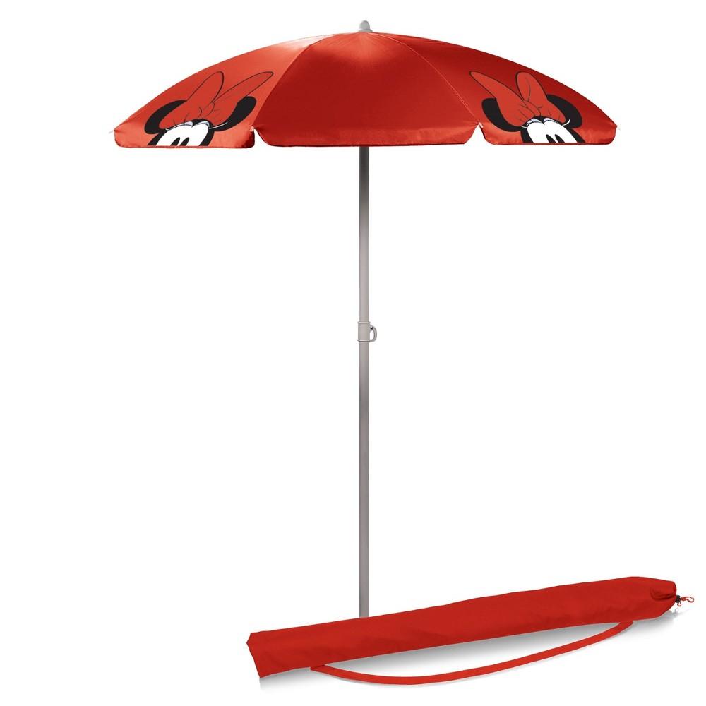 Picnic Time Disney Minnie Mouse Portable Beach Umbrella 5.5' - Red