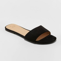Women's Kaylor Microsuede Slide Sandals - A New Day™