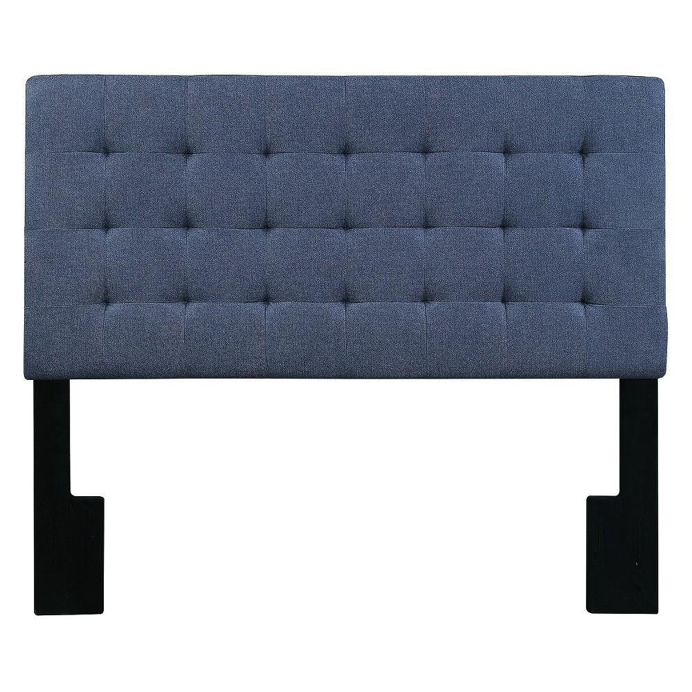 Mateo King Size Tuft Upholstered Headboard Blue Denim Darkwash - Pulaski