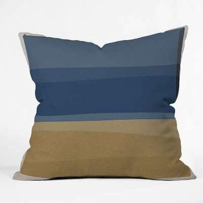 "16""x16"" Orara Studio Modern Square Throw Pillow Blue/Brown - Deny Designs"