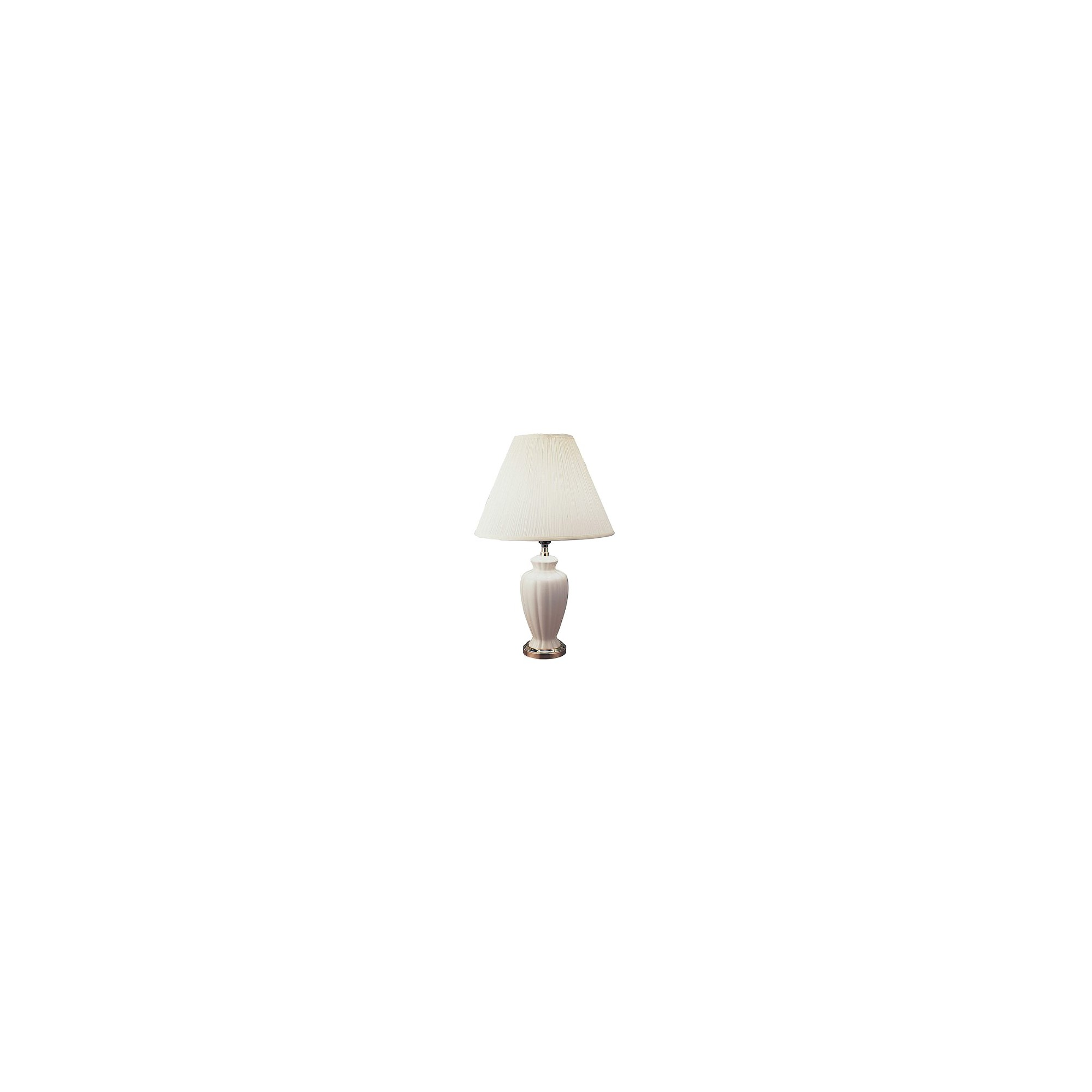 Ceramic Table Lamp (Lamp Only) - Ivory