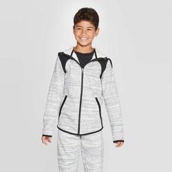 Boys' Premium Woven Pieced Fleece Full Zip Hoodie - C9 Champion®