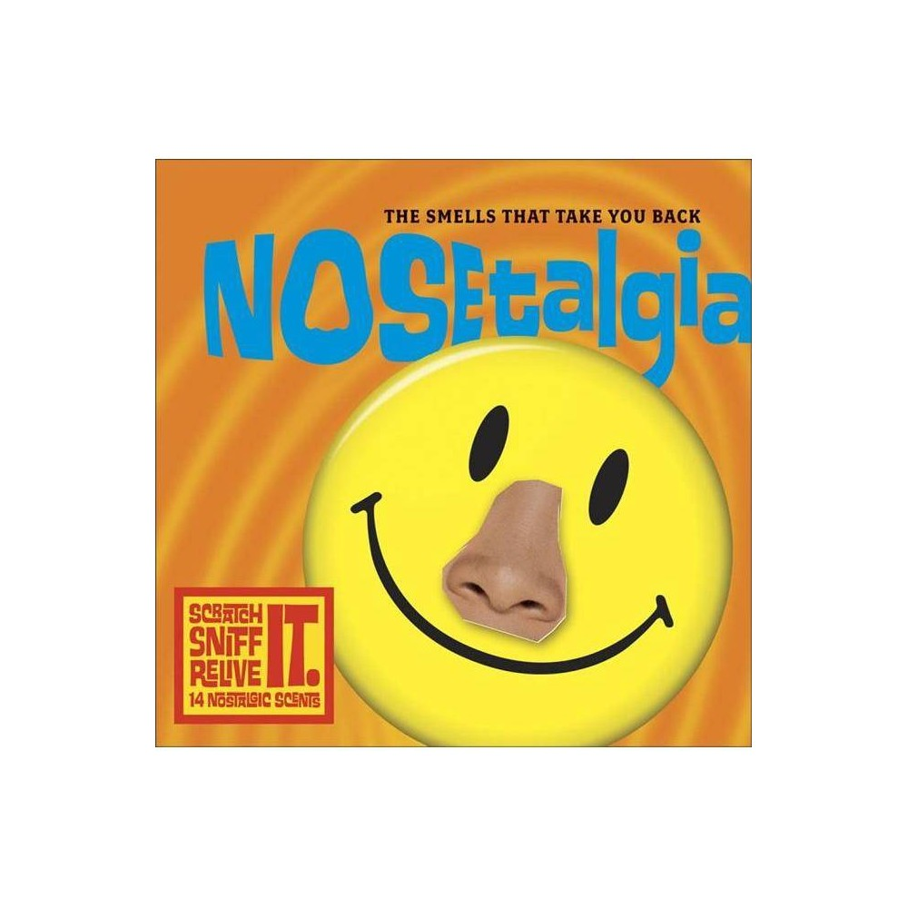 Nosetalgia - by Michael Gitter (Hardcover) Nosetalgia is the first and only book of its kind in the world. And it literally stinks! It has 14 nostalgic scratch-and-sniff spots to take you back.In the hyper-protective, safety-conscious world we live in, we can consider it a badge of honor that as kids we breathed in the deliciously noxious smells of damp mimeograph paper, model airplane glue, Wite-Out, rubber cement, Magic Markers, and Superelastic Bubble Plastic and lived to tell about it. Very few things transport you in time like your sense of smell. It is the oldest, most primal sense and the one most tied to memory. And while we can identify over 10,000 individual smells, it is still the most underappreciated of all our senses. The authors of Nosetalgia: The Smells That Take You Back present a way to help release stored and oft-forgotten childhood memories. This unique book features 96 pages of vibrant, full-color photos of a wide variety of items from the '50s, '60s, '70s, and '80s, from Lip Smackers to Odorama memorabilia. To complete the experience, there are 14 scratch-and-sniff scent spots, from menthol (recalling Vick's VapoRub) to coconut (Coppertone suntan lotion and the smell of piña coladas) and a variety of bubblegums, perfumes, and colognes to help trigger smell memories for the reader. It is a scratch-and-sniff book for grownups who want to relive the glory days of their childhoods. People the world over continue to ride the wave of nostalgia that has swept the entire globe. Nosetalgia will be a coffee-table must-have. It is something people will flip through again and again and will tell their friends about.