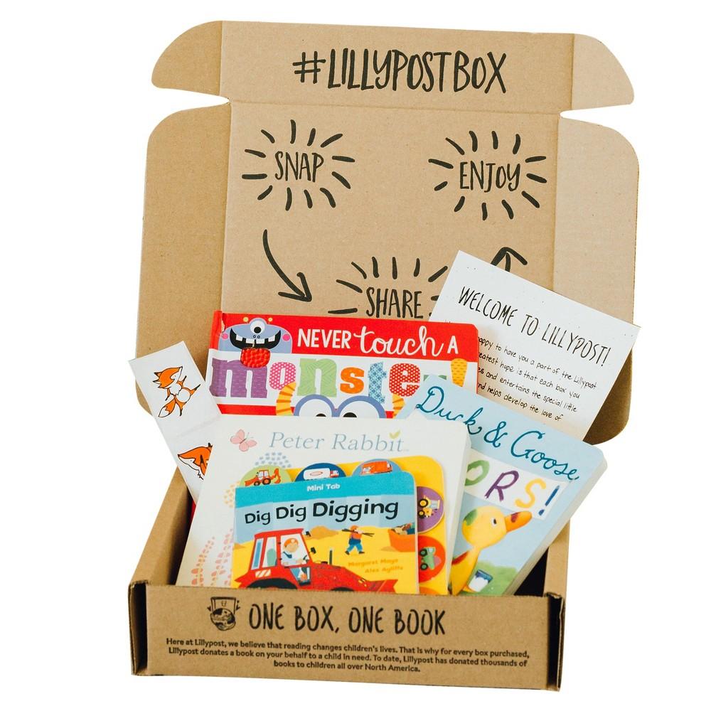 Lillypost Board Book Box, Books