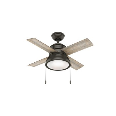 Hunter Fan Company Loki 36-Inch Small Living Room Home Ceiling Fan with LED Light, Noble Bronze