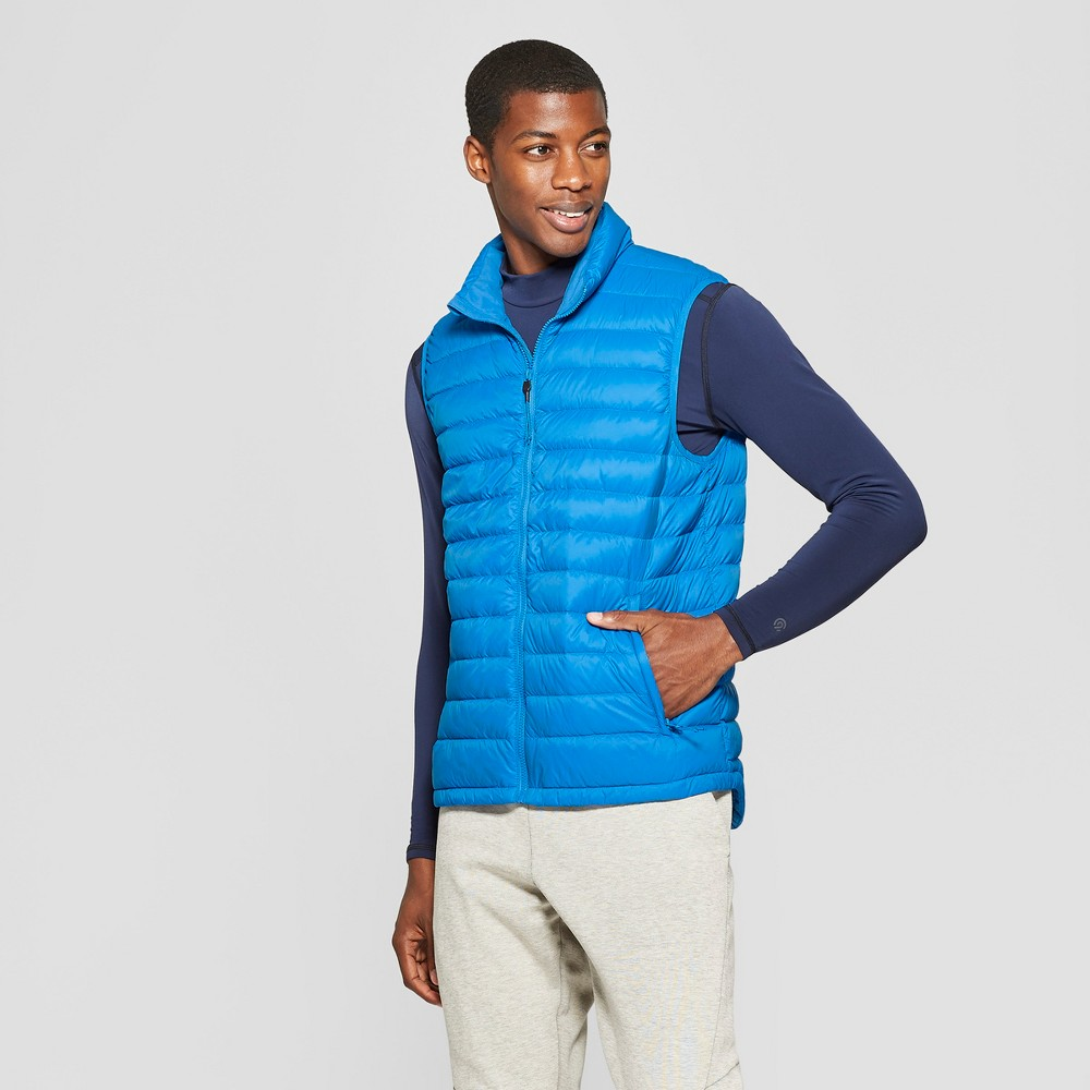 Men's Lightweight Puffer Vest - C9 Champion Deep Hotline Blue M