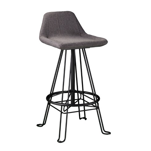 Awesome Musette Retro Bar Stool Gray Aiden Lane Onthecornerstone Fun Painted Chair Ideas Images Onthecornerstoneorg