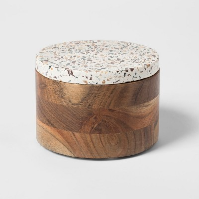 Decorative Box - Speckled White/Wood - Project 62™