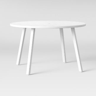 Beacon Hill 4 Person Slat Top Dining Table White - Project 62™