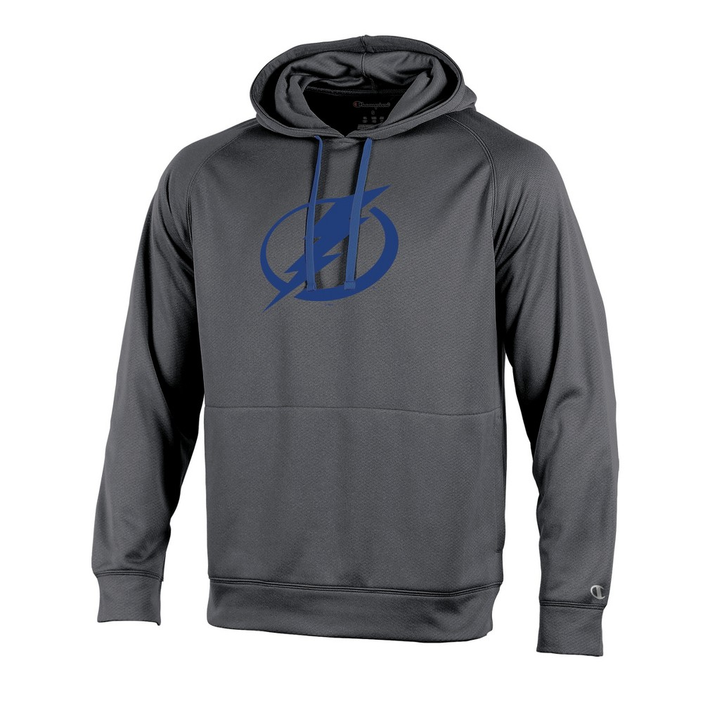 Tampa Bay Lightning Men's Edge Gray Poly Textured Hoodie Xxl, Multicolored