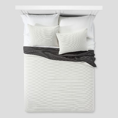 White Dot Woven Matelasse Coverlet (King)- Project 62™