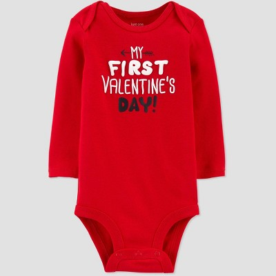 Baby 'My First Valentine's Day!' Bodysuit - Just One You® made by carter's Red 12M