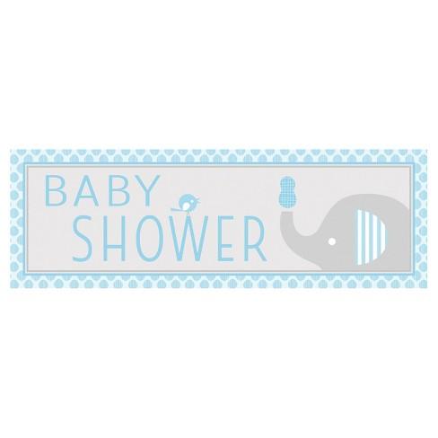 Little Peanut Boy Elephant Giant Baby Shower Banner Blue Target