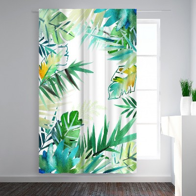 Americanflat Tropical Foliage by Victoria Nelson Blackout Rod Pocket Single Curtain Panel 50x84