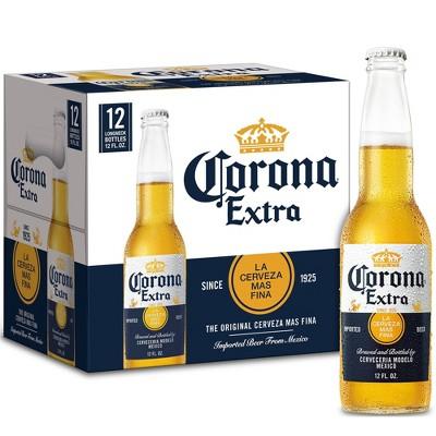 Corona Extra Lager Beer - 12pk/12 fl oz Bottles