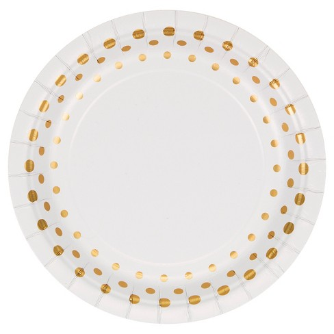 """Sparkle and Shine Gold Foil 7"""" Dessert Plates - 8ct - image 1 of 2"""