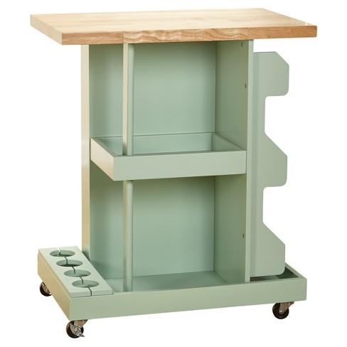 Hampton Kitchen Cart - Mint - Target Marketing Systems - image 1 of 4