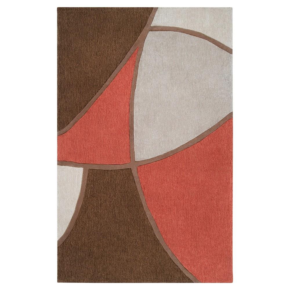 Ebino Area Rug - Rust (Red), Camel - (3'6