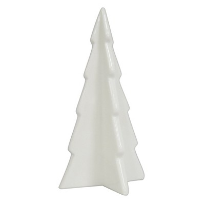 White Ceramic Mini Christmas Tree Figurine Small Wondershop