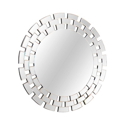 Denna Round Decorative Wall Mirror Silver - Abbyson Living - image 1 of 4