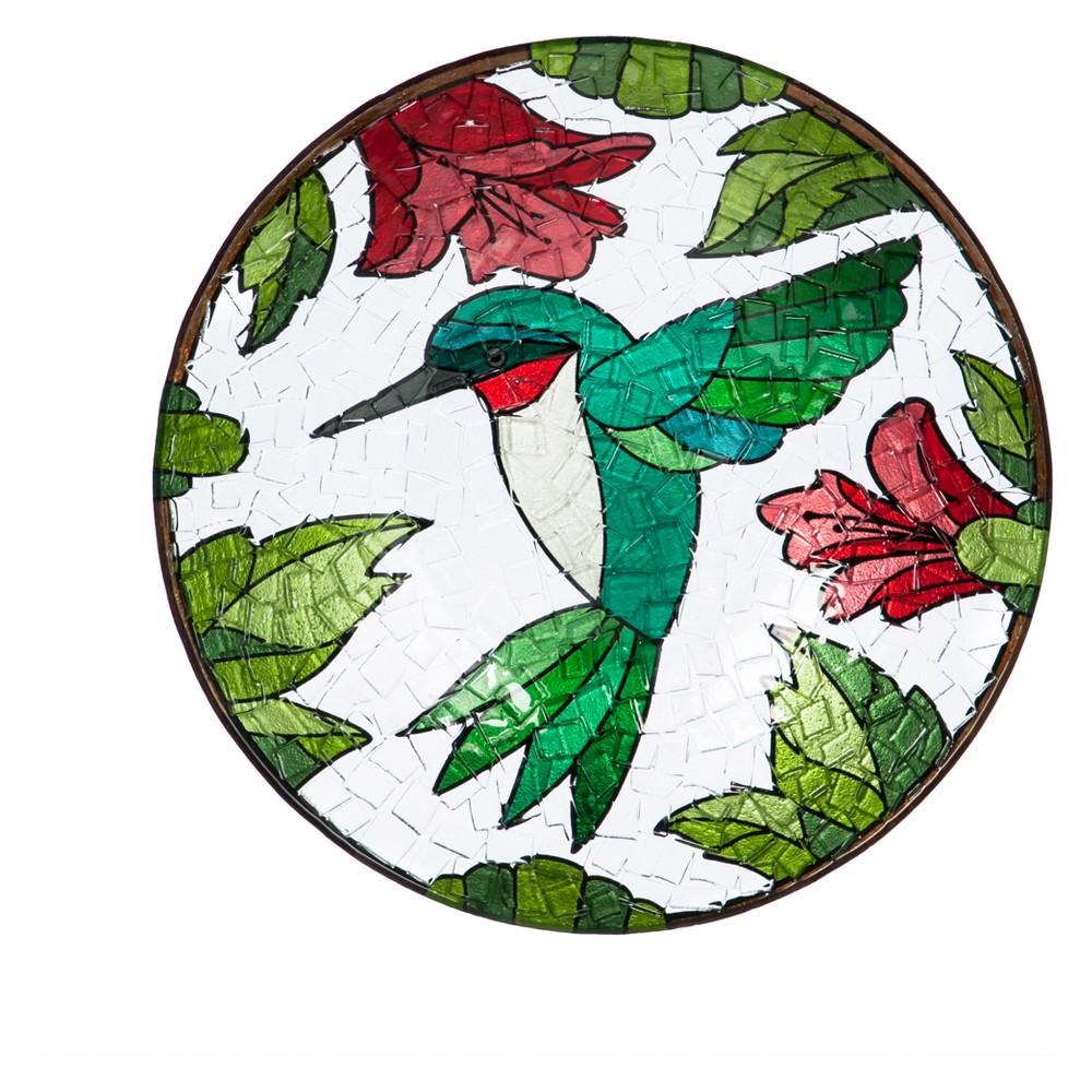 "Image of ""2.50"""" H Glass Birdbath - Evergreen"""