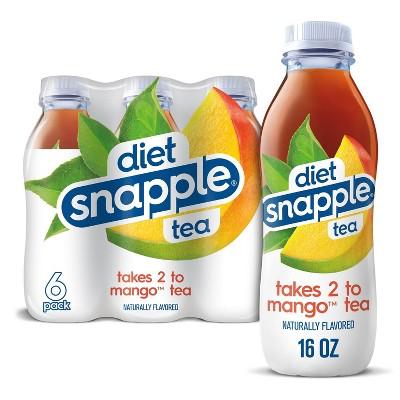 Snapple Diet Mango Juice Drink - 6pk/16 fl oz Bottles
