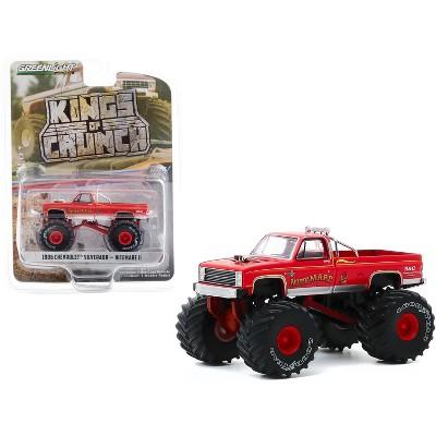 "1986 Chevrolet Silverado Monster Truck ""Nitemare II"" Red ""Kings of Crunch"" Series 7 1/64 Diecast Model Car by Greenlight"