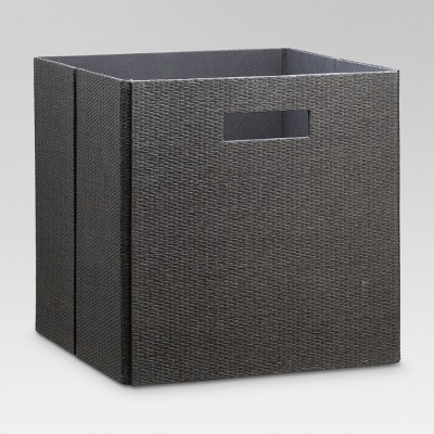 Fabric Cube Storage Bin 13  - Dark Gray - Threshold™