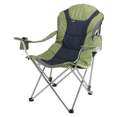 Superbe Picnic Time Reclining Camp Chair With Carrying Case   Sage Green/Dark Gray  (12.5 Lb)