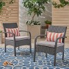 Cordoba 2pk Wicker Club Chairs - Christopher Knight Home - image 2 of 4