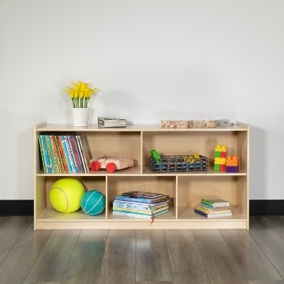 Flash Furniture Wooden School Classroom Storage Cabinet/Cubby for Commercial or Home Use - Safe, Kid Friendly Design (Natural)