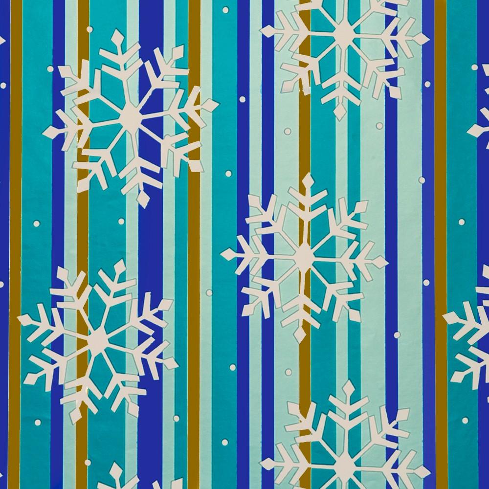 Blue with Snowflakes Premium Gift Wrap 90 sq ft - Wondershop