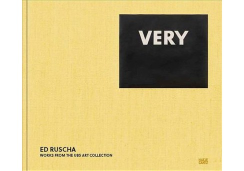 Ed Ruscha : Very: Works from the Ubs Art Collection -  by Mary Rozell & George Condo (Hardcover) - image 1 of 1