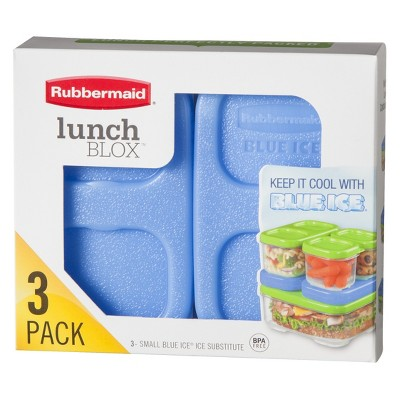 Rubbermaid® LunchBlox Small Blue Ice - 3pk