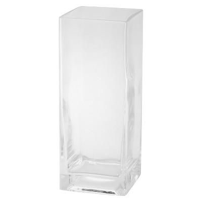 10 x4  Glass Rectangle Vase - Diamond Star