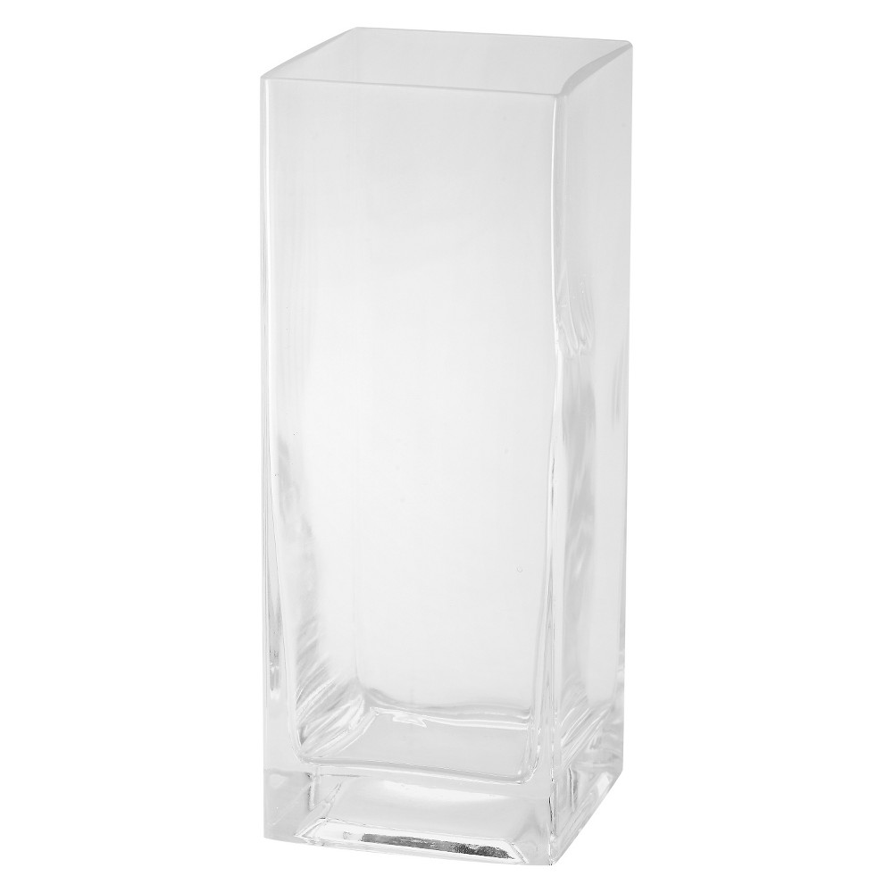 "Image of ""10""""x4"""" Glass Rectangle Vase - Diamond Star"""