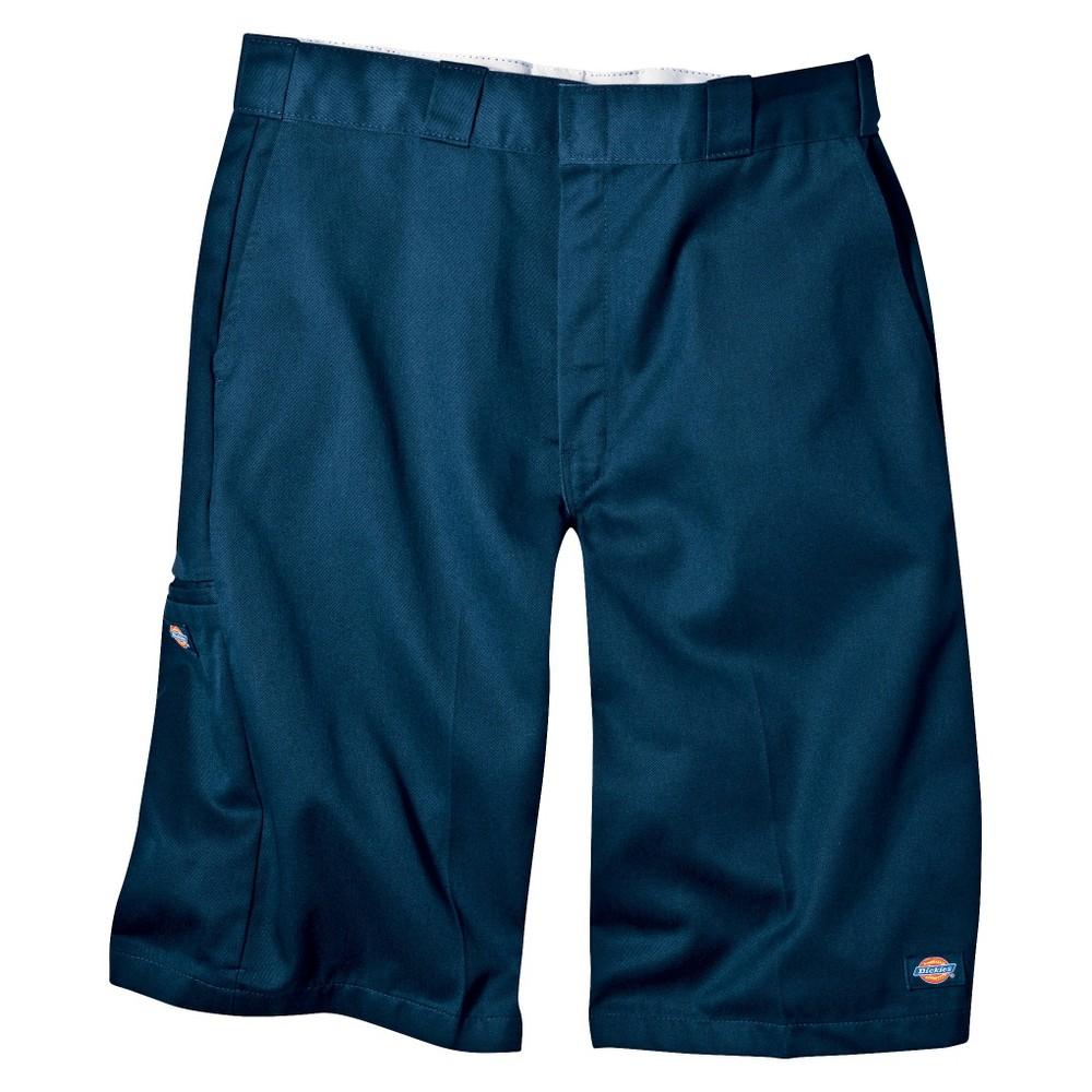Dickies Men's Big & Tall Loose Fit Twill 13 Multi-Pocket Work Shorts- Dark Navy 52