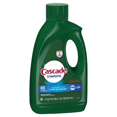 Cascade Complete Citrus Breeze Gel Dishwasher Detergent - 75oz