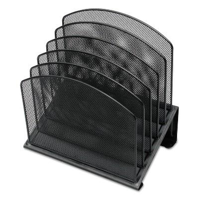 Universal Metal Mesh Tiered File Sorter 11 1/4 x 7 1/4 x 12 Black 20024
