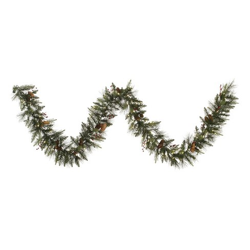 "9' X 12"" Vallejo Mixed Garland - Warm White LED Lights - image 1 of 1"