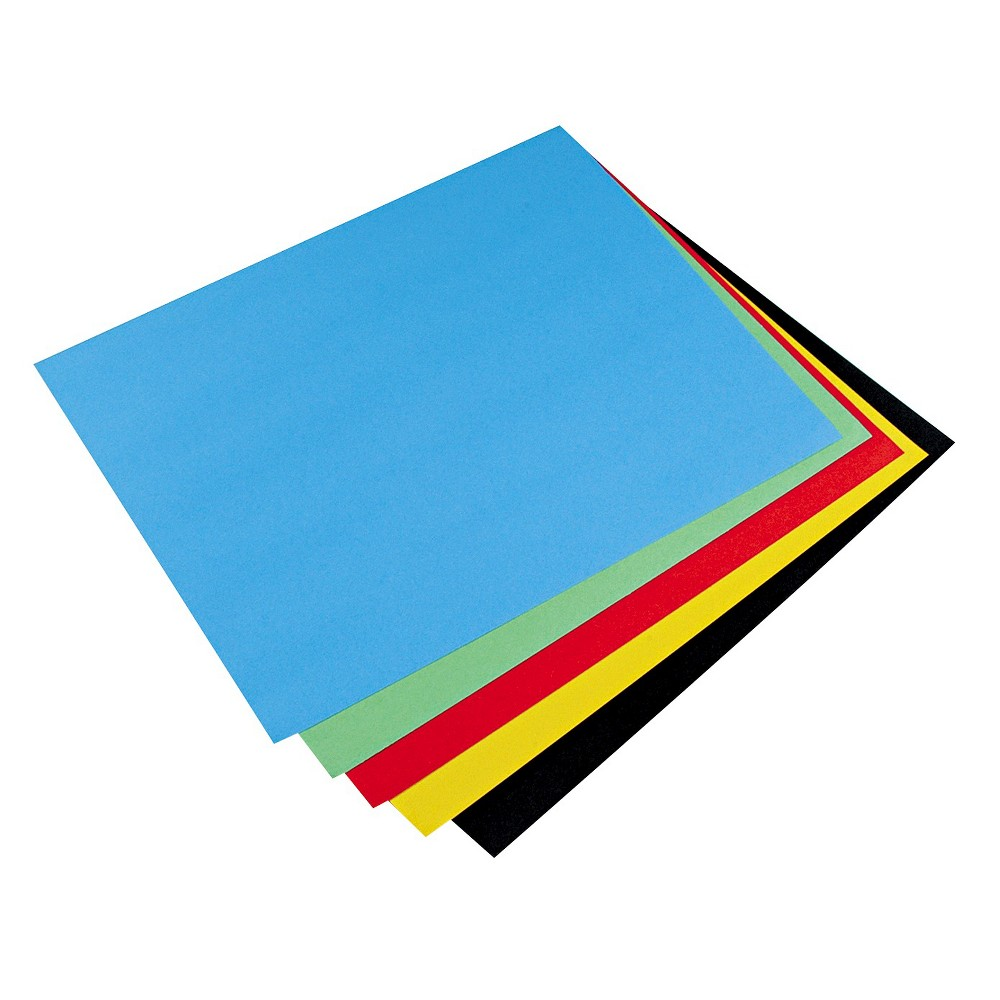 Pacon Colored Four-Ply Poster Board, 28 x 22, Assortment, 25/Carton, Multi-Colored
