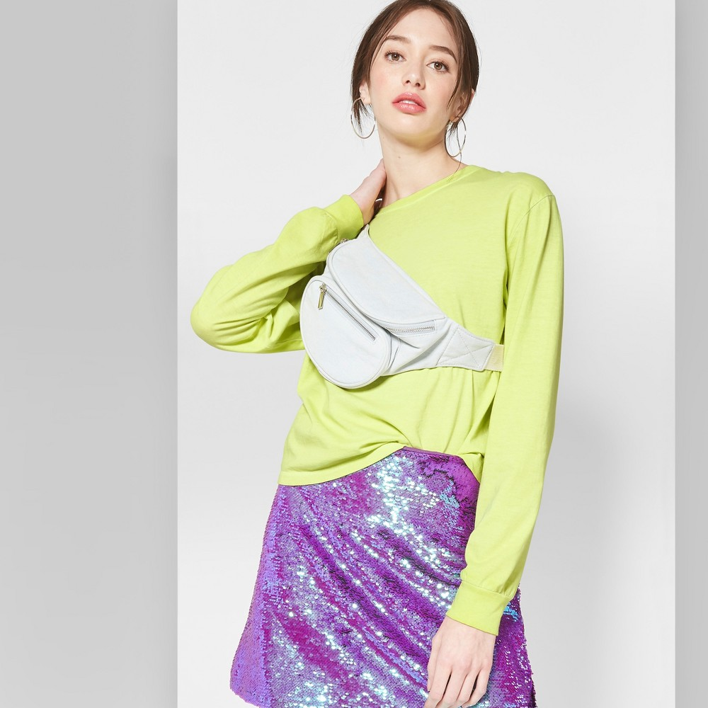 Women's Long Sleeve Skater T-Shirt - Wild Fable Citrus Yellow L