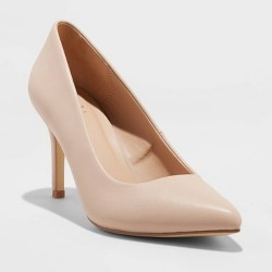 Women's Gemma Pointed Toe Heeled Pumps - A New Day™