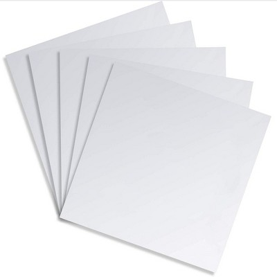 Square Adhesive Mirror Sheet Tiles for Wall Decor (5 Count), 11.8 inches