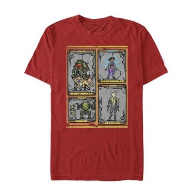 Men's Borderlands 3 Pixelated Crimson Raiders T-Shirt