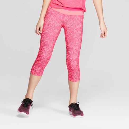 8b2a14a65dc4 Girls  Floral Printed Performance Capri Leggings - C9 Champion®   Target