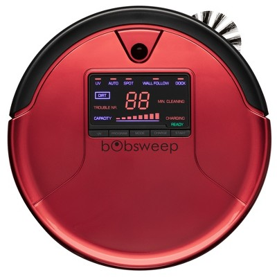 bObsweep PetHair Robot Vacuum Cleaner and Mop - Red