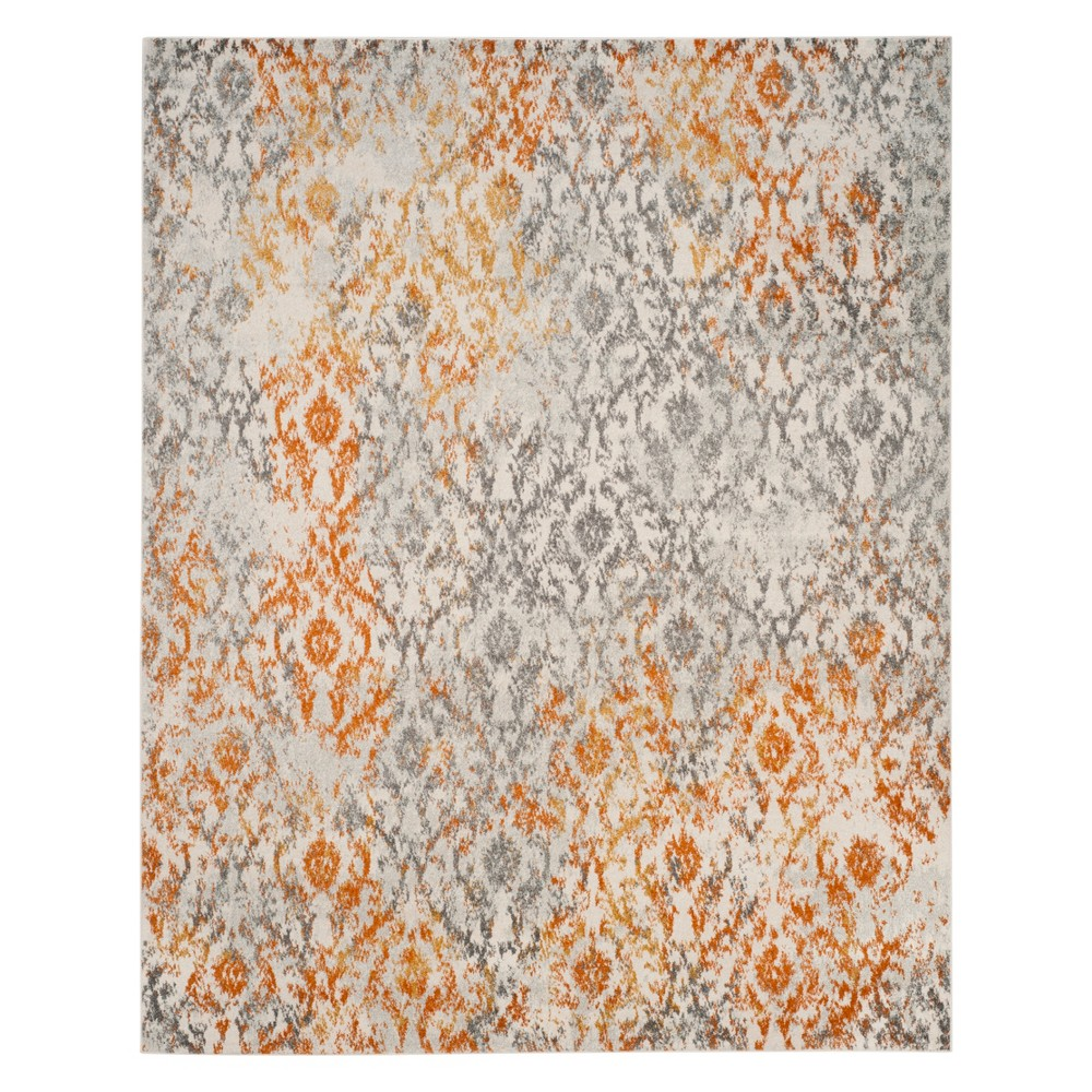 Shapes Loomed Area Rug Cream/Orange